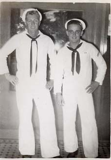 Datwyler & Shipmate on Liberty in Pearl Harbor